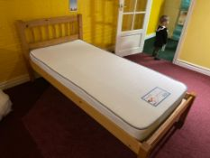 Single Pine Bed with Mattress RRP 270