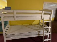 White Bunk Beds with Mattress RRP 580