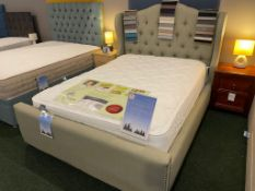 Ex Display Double Elsa Mattress Winged Nile Bed (RRP 1400)
