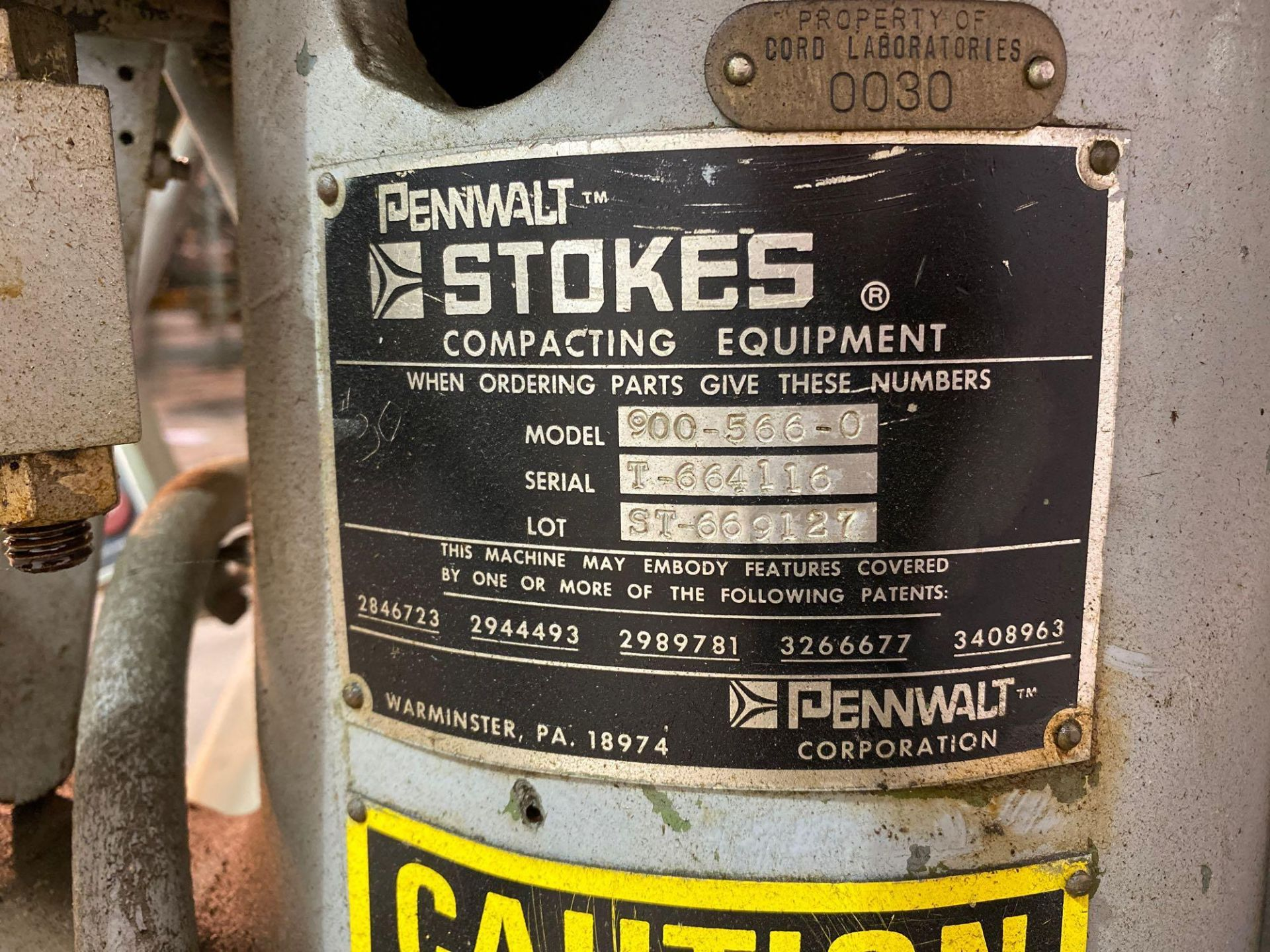 Penwalt Stokes 566 Tri-Layer Tablet Press - Image 6 of 10