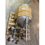 Stainless Vertical Mixing Vessel with Mixer and Valves