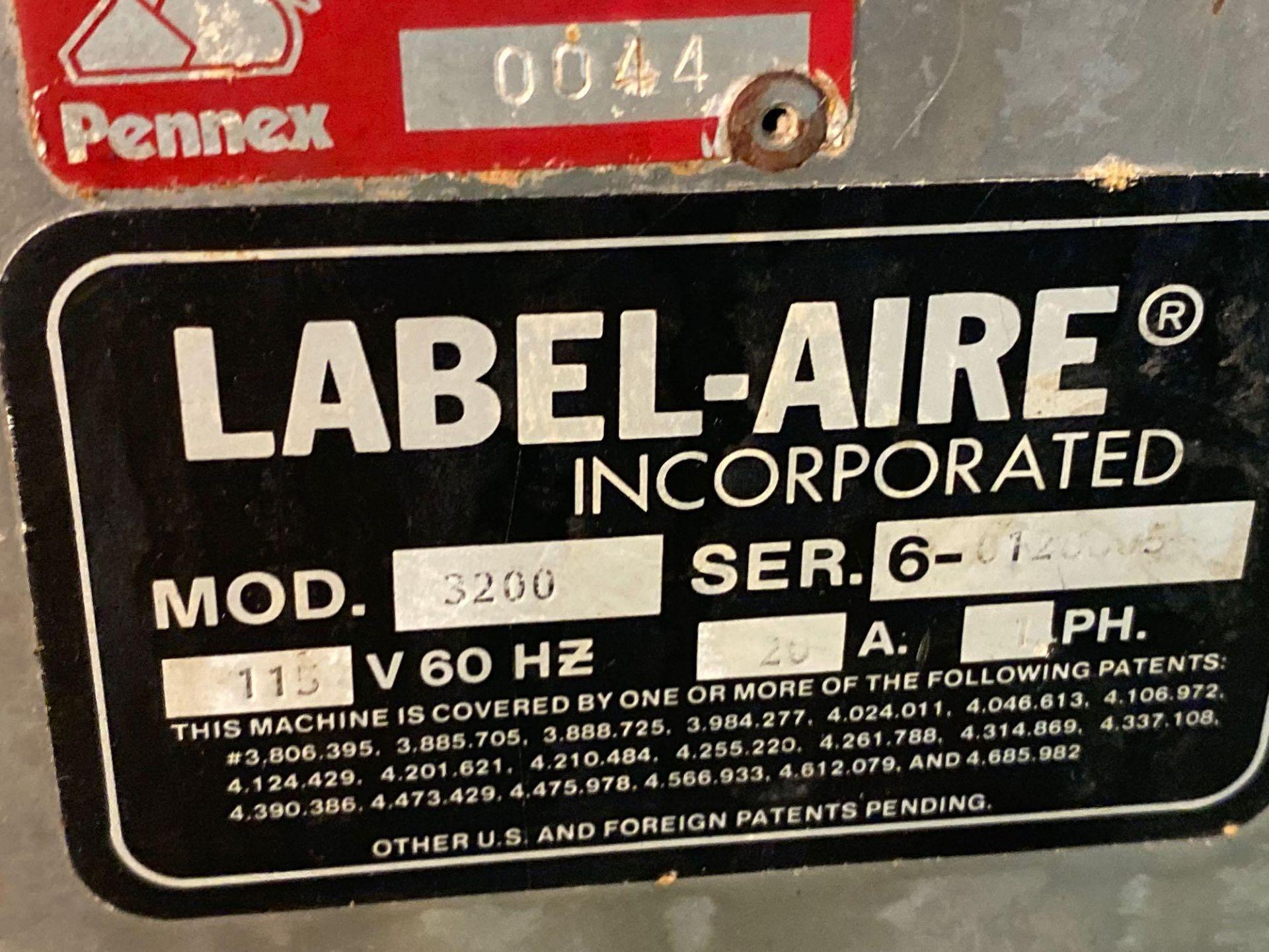 Label-Aire Model 3200 Conveyorized Pressure Sensitive Labeler - Image 5 of 14