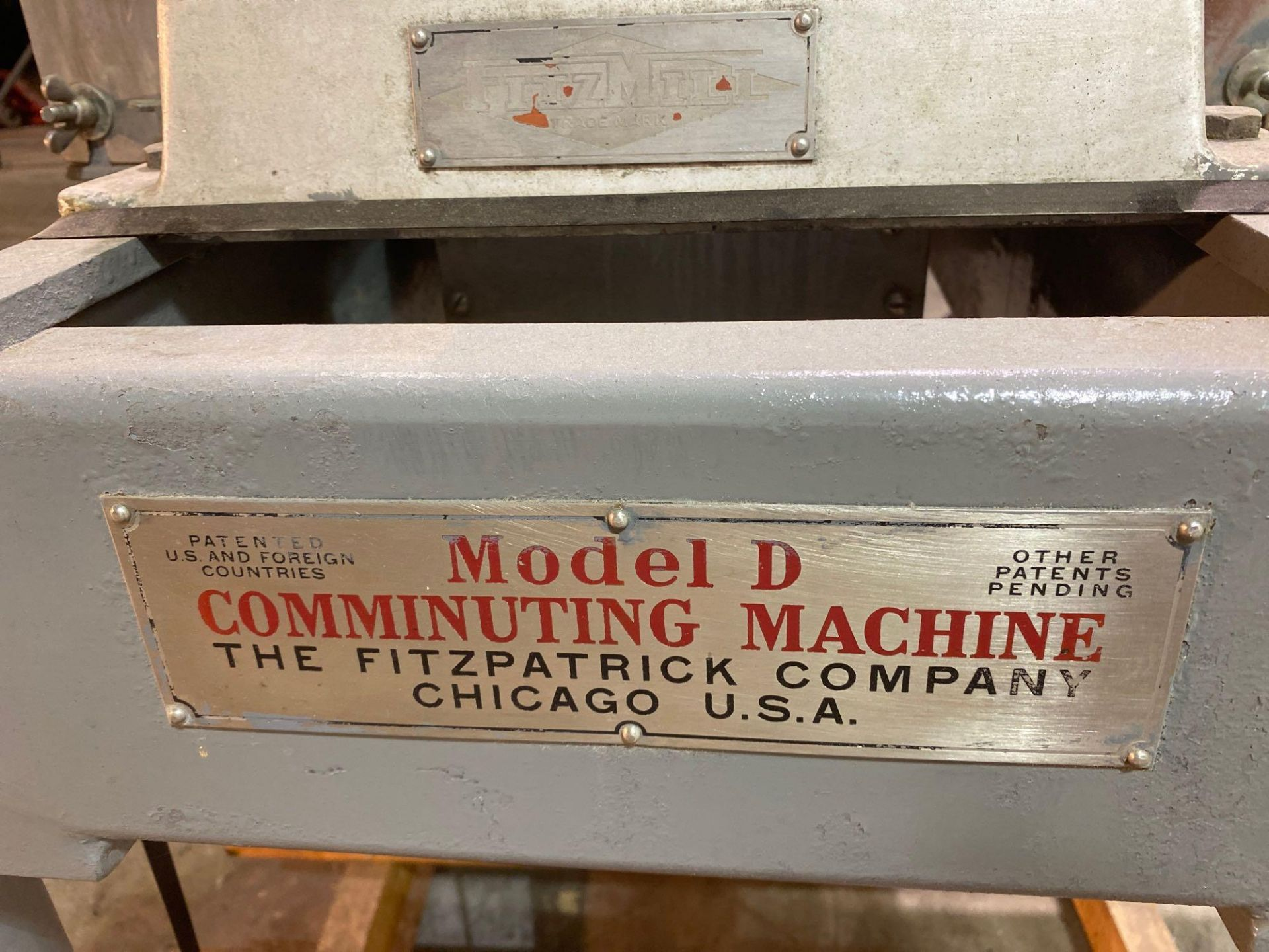Model D Comminuting Stainless Steel Fitz Mill - Image 5 of 8