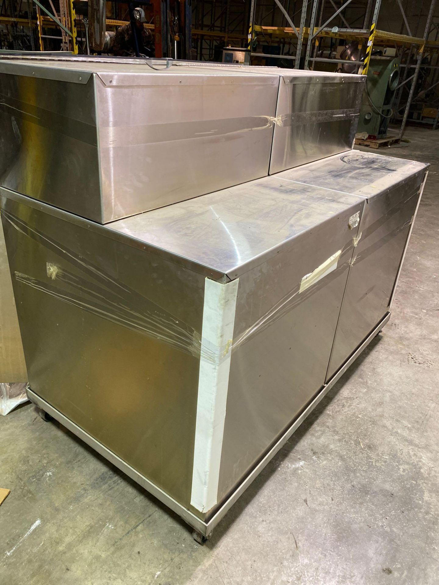 Mobile Stainless Steel Cabinet with Sifter Sieves - Assorted Sizes