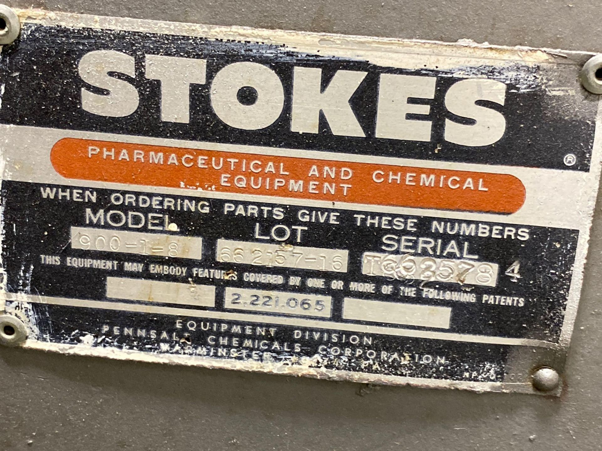 """Stokes 42""""d Coating Pan 900-1-8 - Image 5 of 7"""