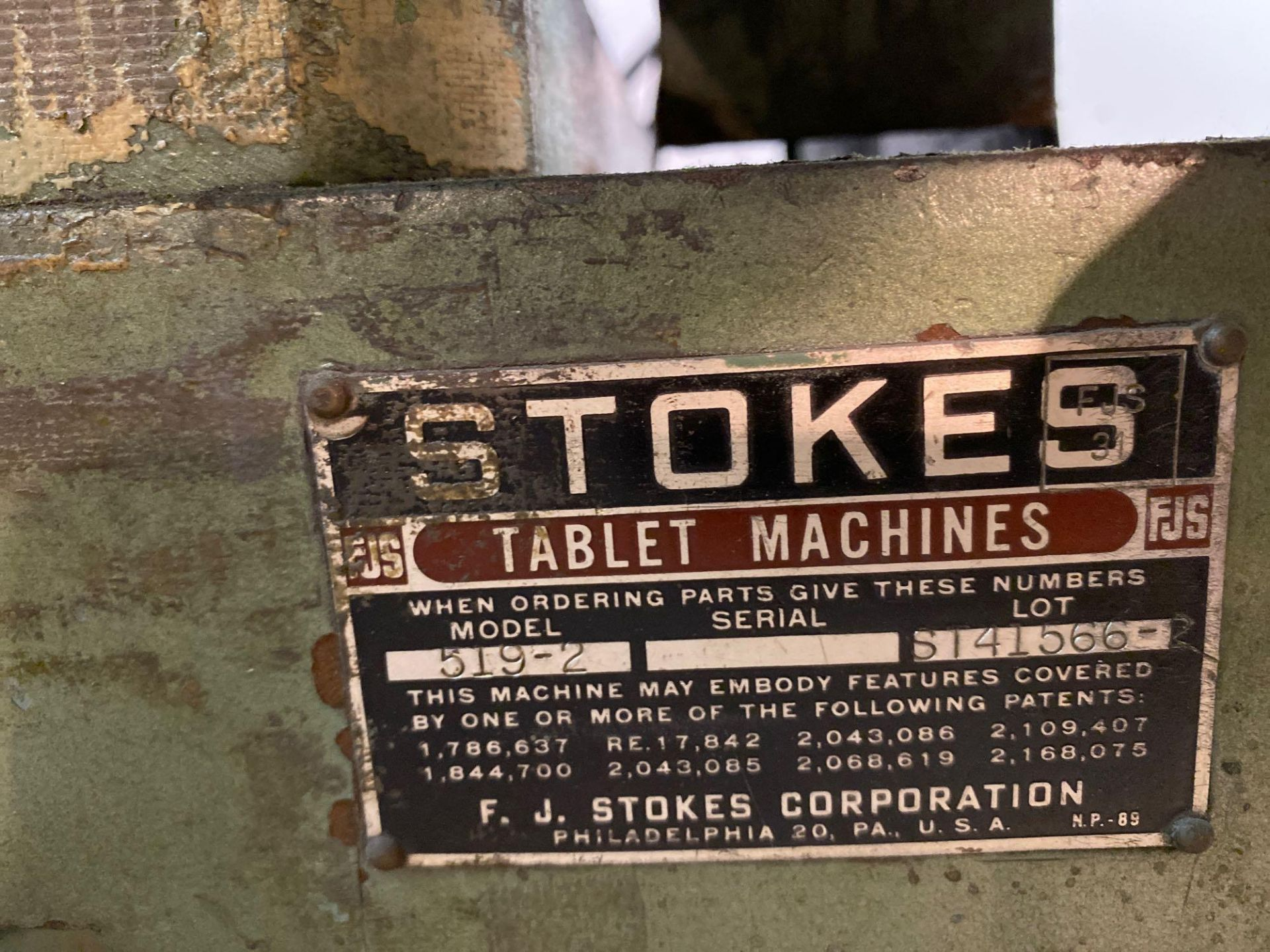 Stokes Single Station Tablet Press - Image 3 of 14