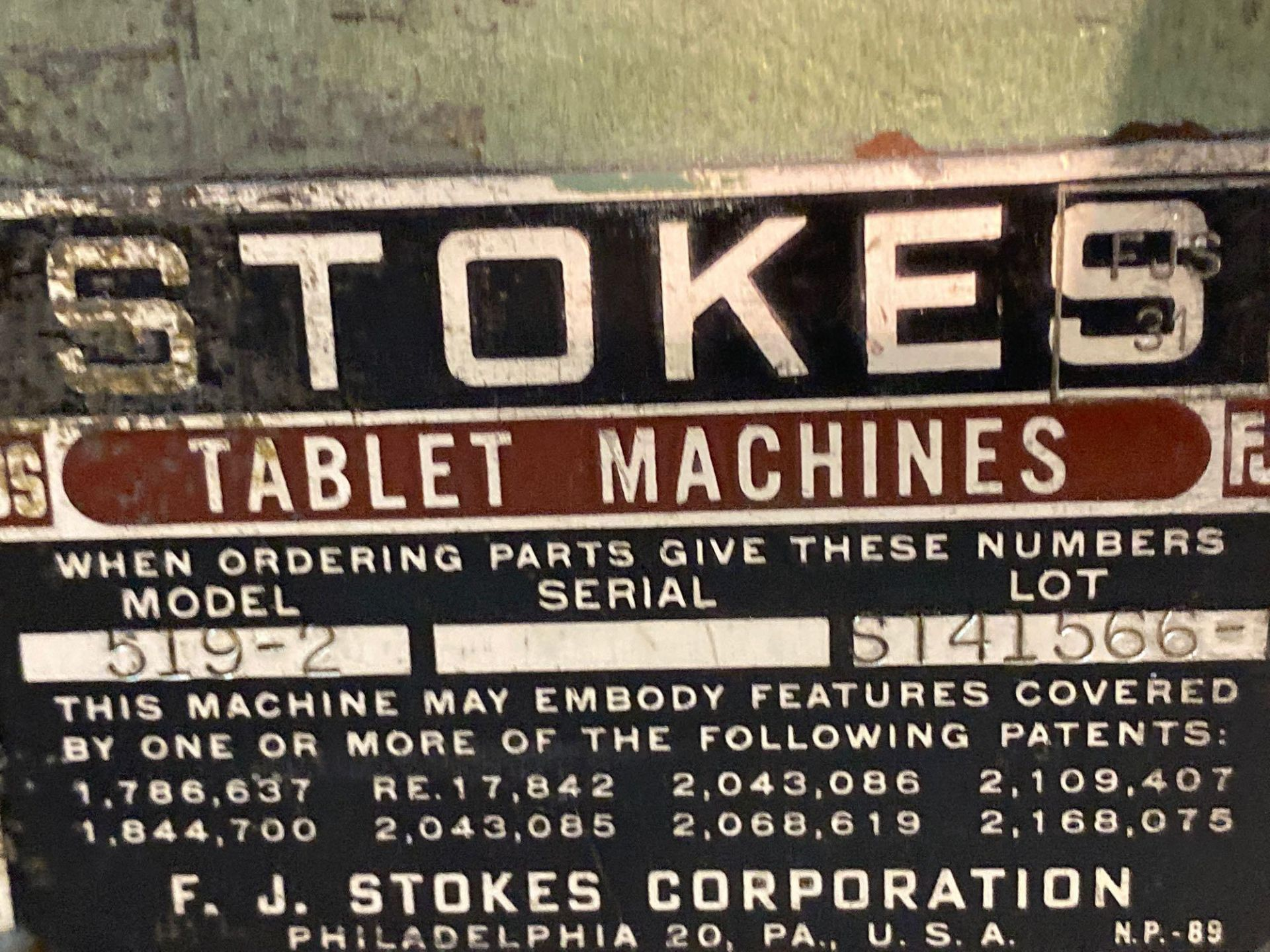 Stokes Single Station Tablet Press - Image 4 of 14