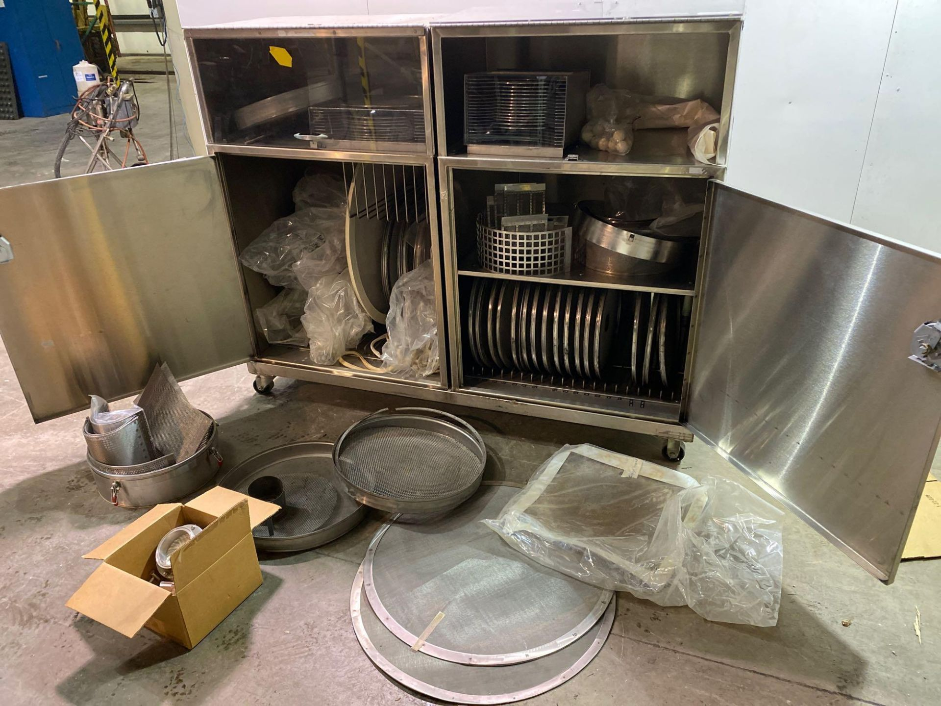 Mobile Stainless Steel Cabinet with Sifter Sieves - Assorted Sizes - Image 4 of 13
