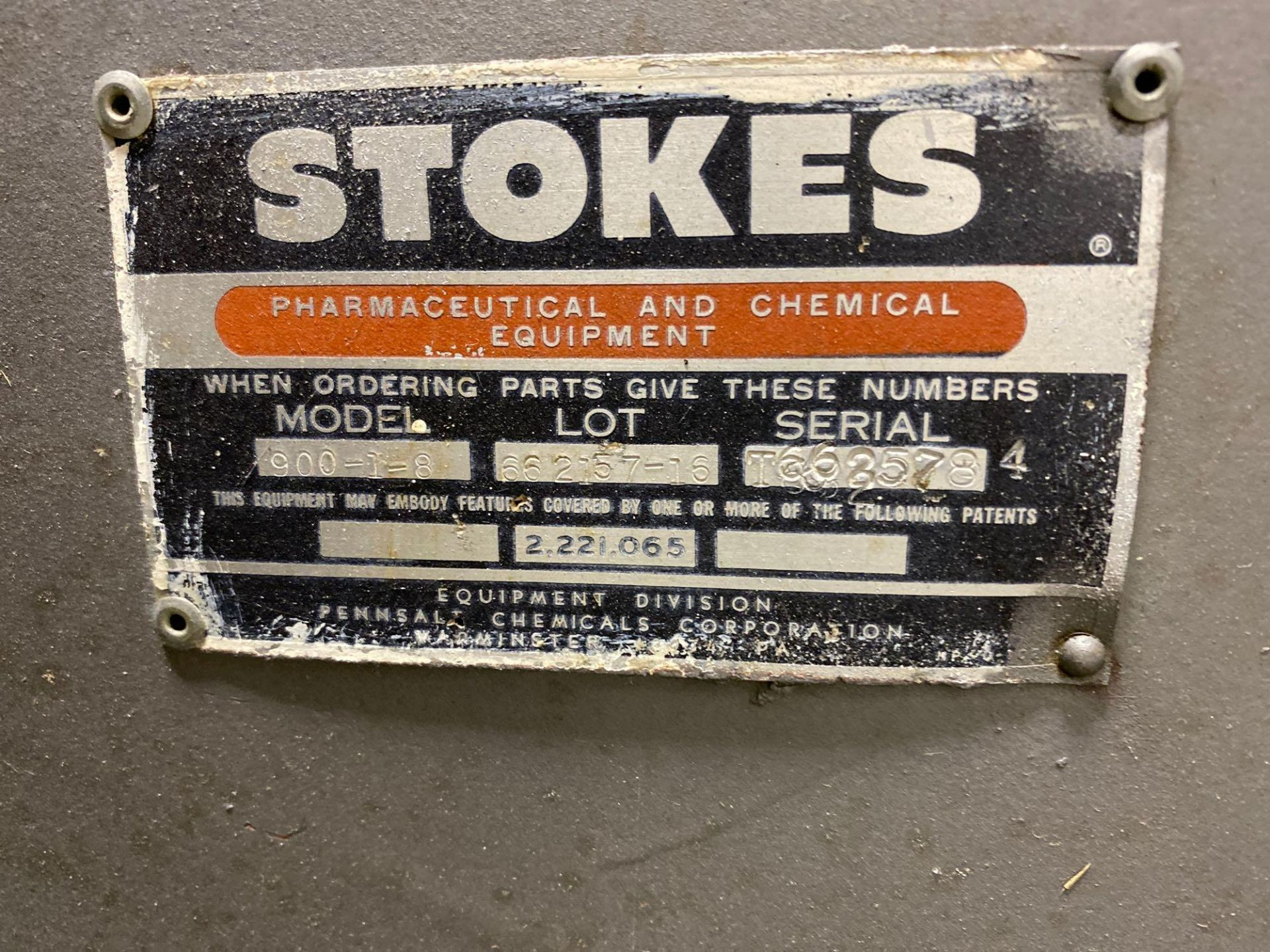 """Stokes 42""""d Coating Pan 900-1-8 - Image 4 of 7"""