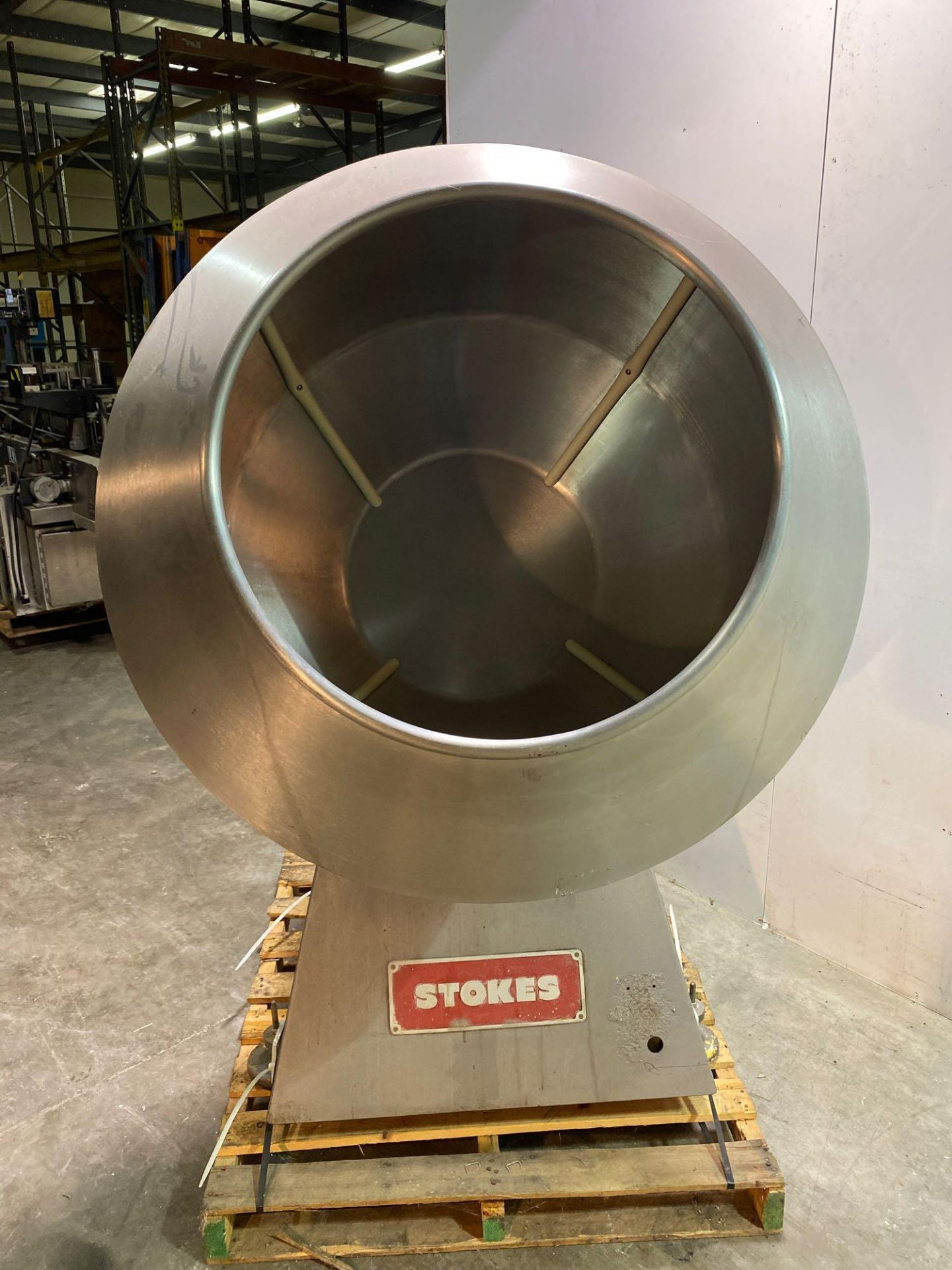 """Stokes 42""""d Coating Pan 900-1-8 - Image 3 of 7"""