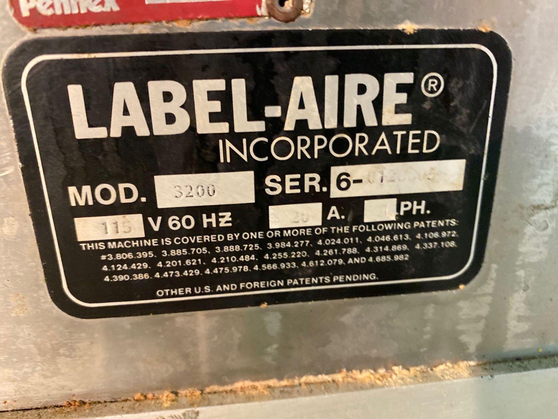 Label-Aire Model 3200 Conveyorized Pressure Sensitive Labeler - Image 4 of 14