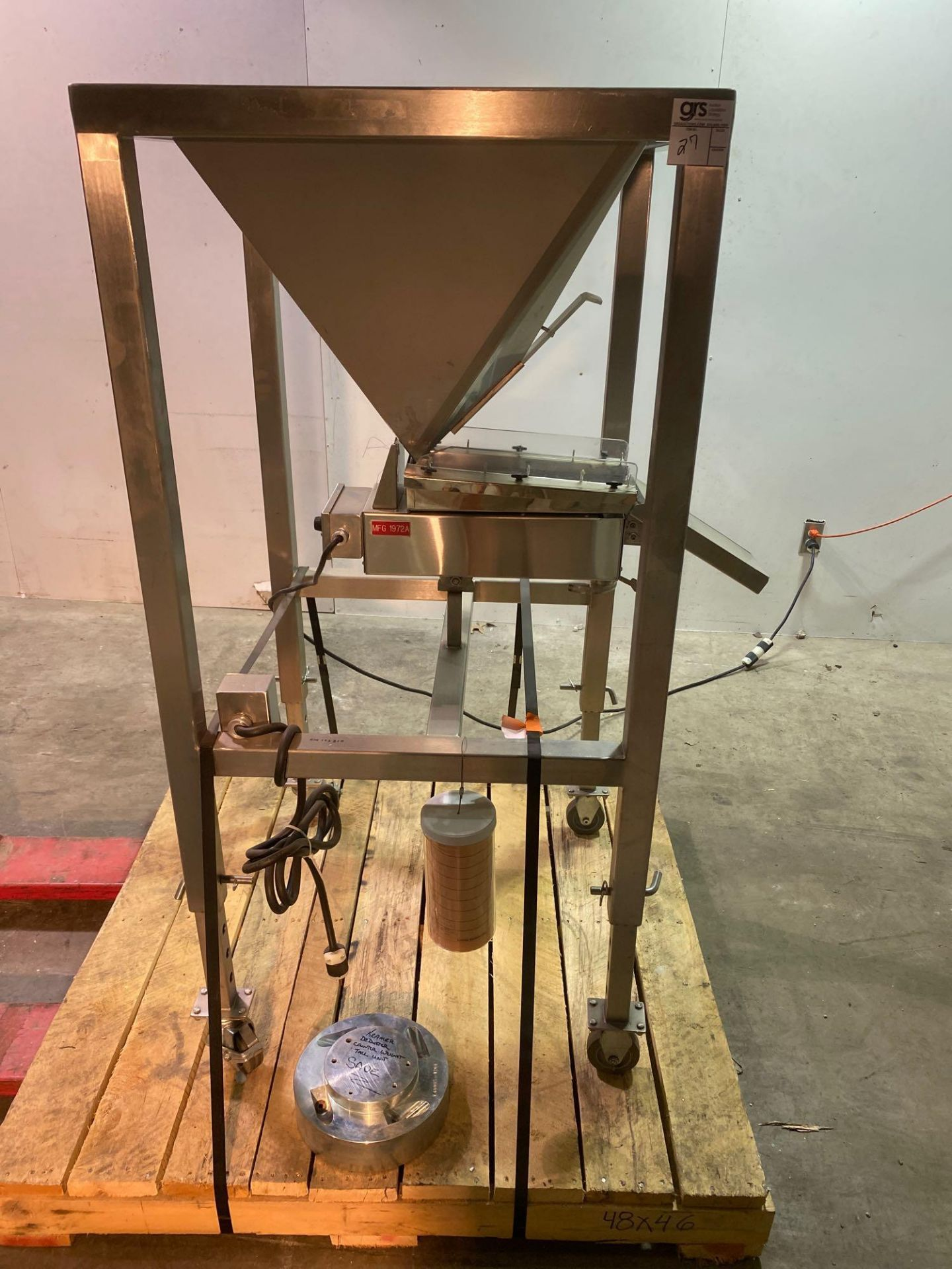 Mobile Vibrating Hopper Feeder with Flat Trough, - Image 2 of 9