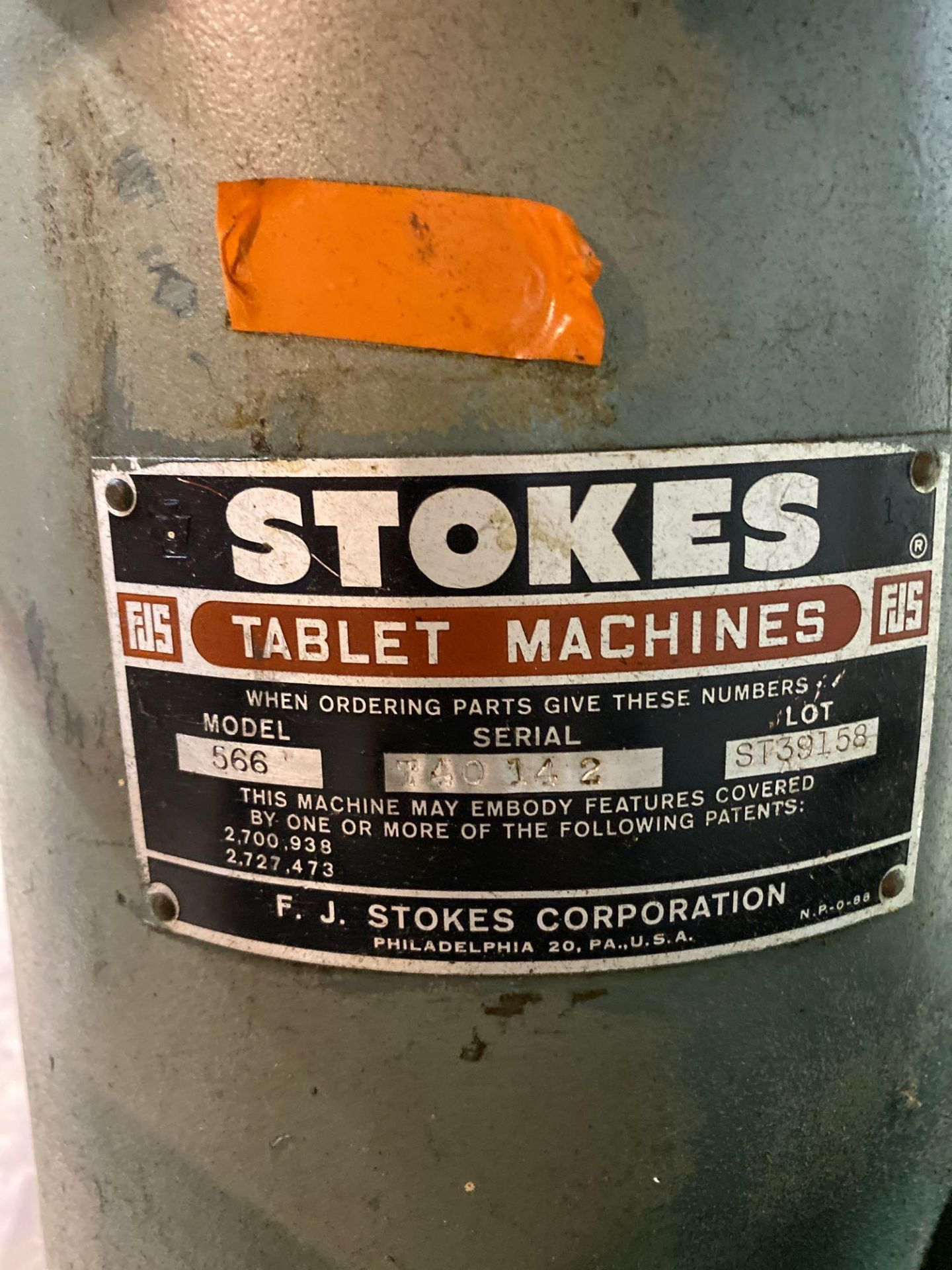 Stokes 566 Tri-Layer 35 Station Rotary Tablet Press - Image 2 of 14