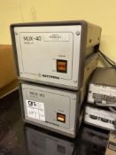 (2) Mitutoyo MUX40 Interface Receivers w/ (2) MUX40 Transmitters and (4) Receivers