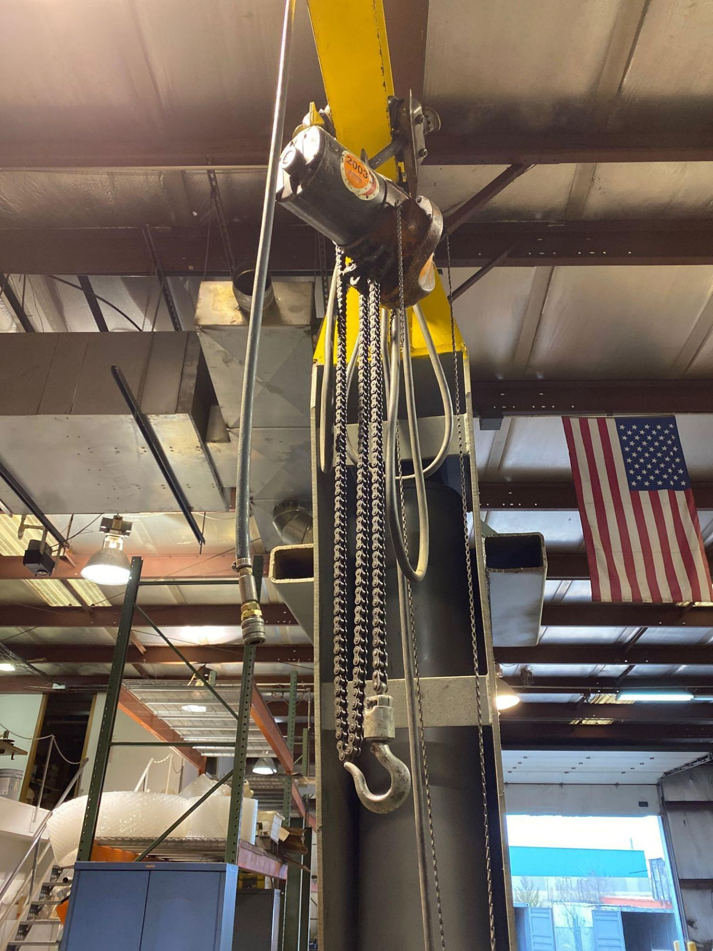 Over Head Jib Crane with Shannon Hoist and Yale Pulley System - Image 4 of 13
