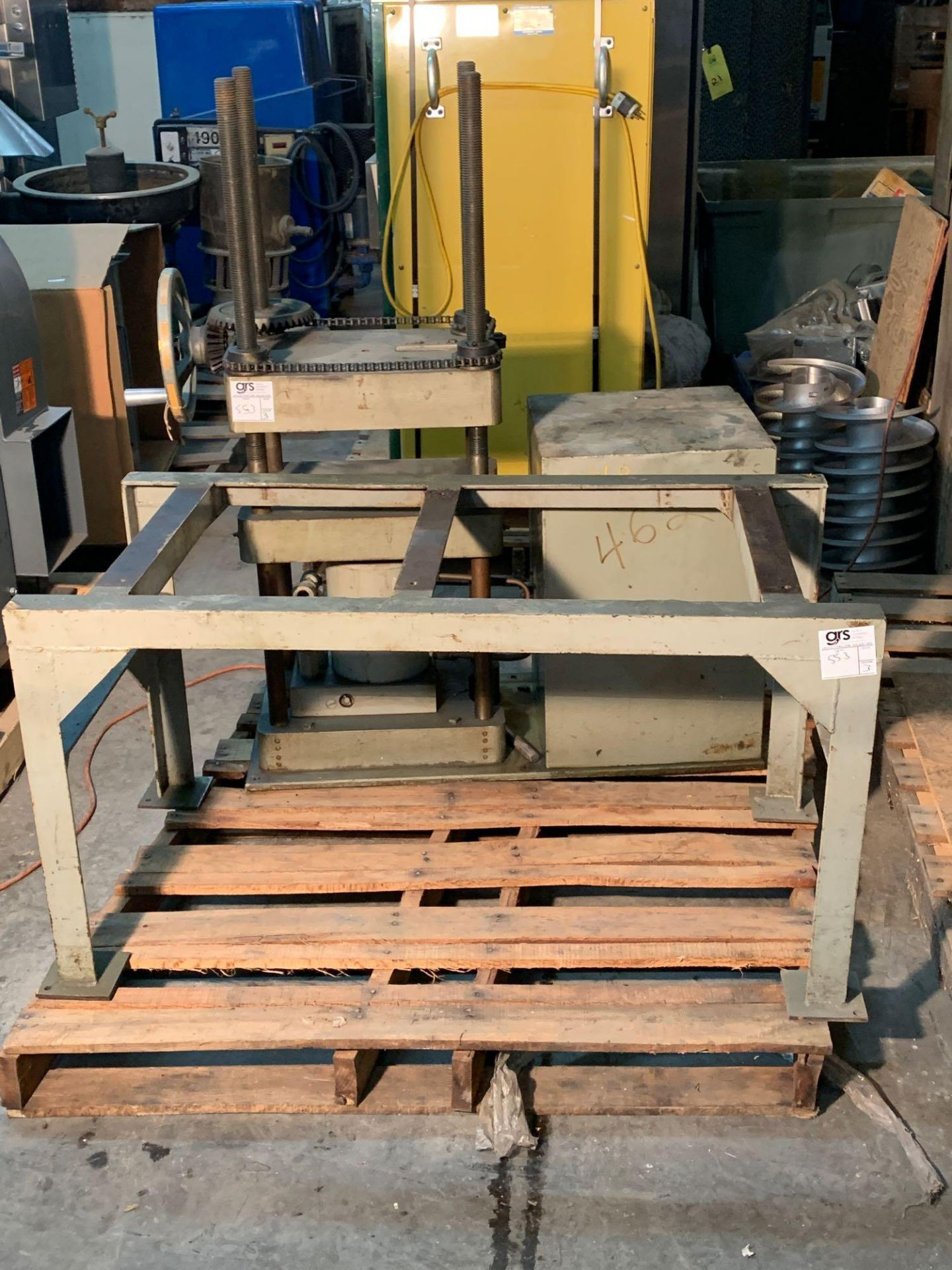 Loomis 50 Ton Hydraulic Post Press with Equipment Stand - Image 2 of 9