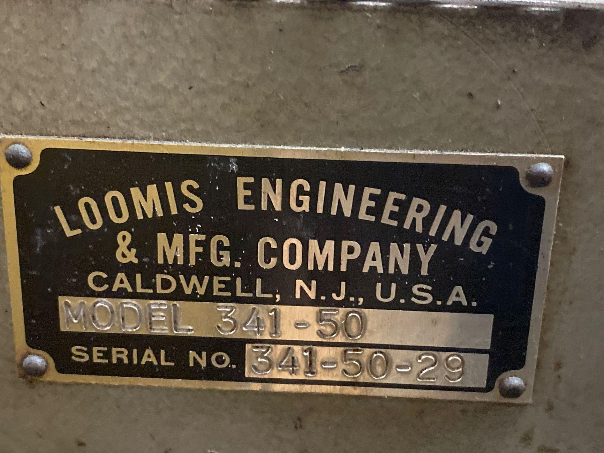 Loomis 50 Ton Hydraulic Post Press with Equipment Stand - Image 8 of 9