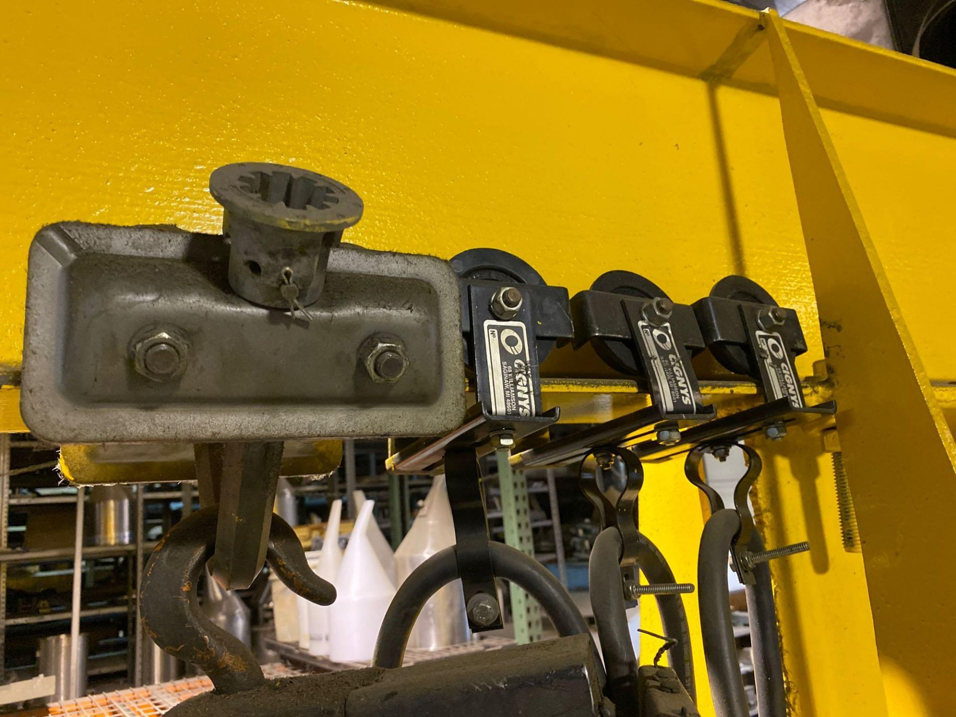 Over Head Jib Crane with Shannon Hoist and Yale Pulley System - Image 8 of 13
