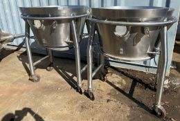 (2) Bases to a Industrial Fluid Bed Dryer