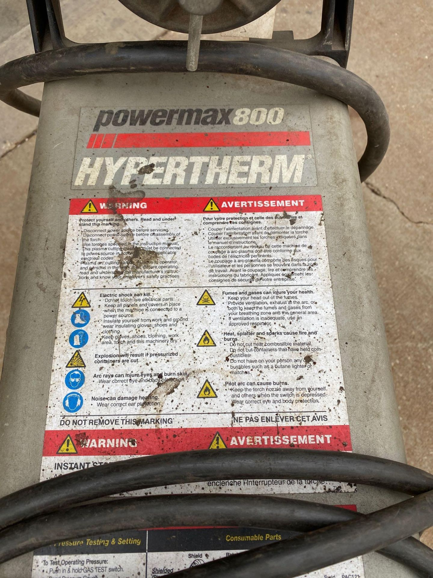 Power Max 800 Hypertherm Plasma Cutter - Image 2 of 8