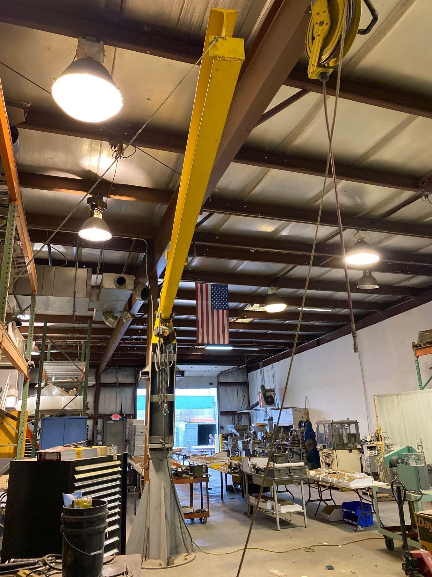 Over Head Jib Crane with Shannon Hoist and Yale Pulley System - Image 7 of 13