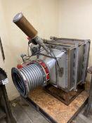 Industrial Pneumatic Water Pressure Damper w/Bray Double Actuator & Magnehelic Pressure Guage