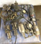 Pallet of Hydraulic Pumps and Gauges