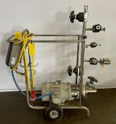 Reliance Electric Pump Motor on Mobil Cart