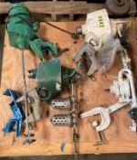 Aluminium Mobil Tool Cart , Pallet of Lighting Mixers and Clamps, (3) Mixing Blades