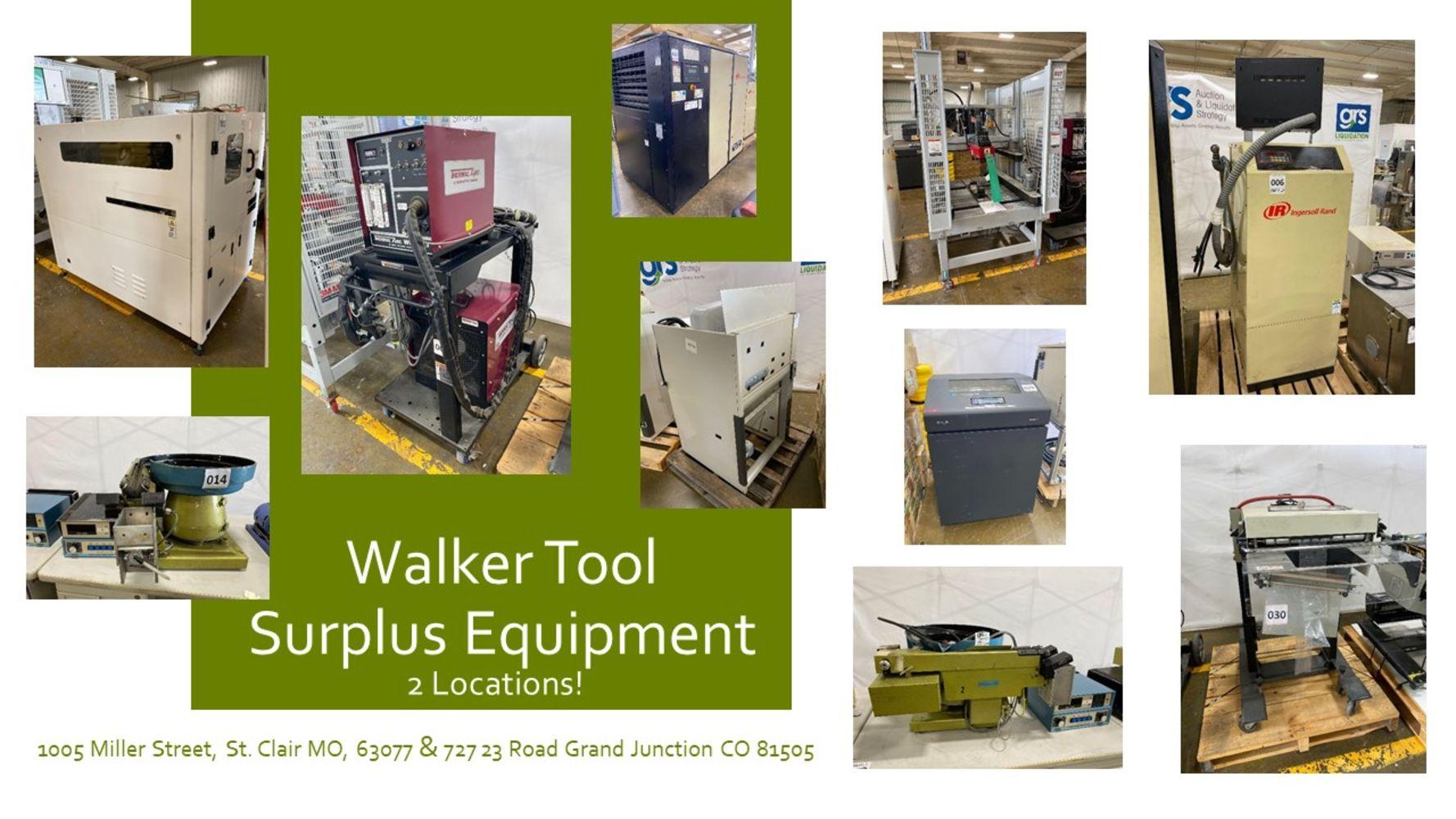 Walker Tool Surplus Packaging and Manufacturing Equipment