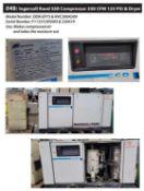 Ingersoll Rand SSR Compressor, 350 CFM 125 PSI & Dryer