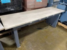 Shop Table with Laminate Top and Outlets