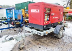 Mosa GE20 YSX 20 kva fast tow diesel driven generator Year: 2015 S/N: 37603 Recorded Hours: 6277