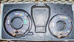 2 - Novopress pipe press collars c/w carry case