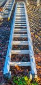 2 stage aluminium ladder