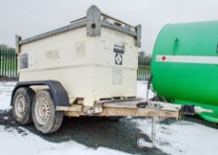 Western Transcube 2000 litre fast tow tandem axle bunded fuel bowser c/w manual pump, delivery