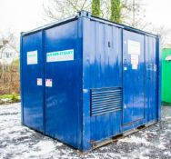8 ft x 10 ft steel Generator unit c/w fuel tank ** No generator ** VS1018