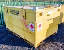 Western 3000 litre bunded static fuel bowser c/w generator feeds 8436