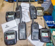 4 - Kenwood 2-way radios c/w charging docks A653341/A686528/A686523/A685323