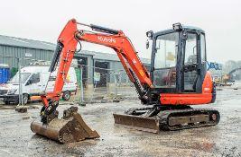 Kubota KX61-3 2.6 tonne rubber tracked mini excavator Year: 2014 S/N: 80737 Recorded Hours: 3632