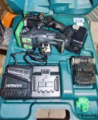 Hitachi 14.4v cordless rebar cutter c/w 2 - batteries, charger & carry case A841566