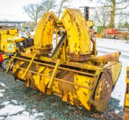 Bunce diesel driven tractor mount snow blower