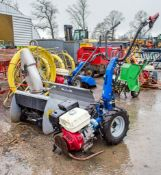 BCS petrol driven snow clearing system c/w snow blower & snow plough ** Engine parts missing **