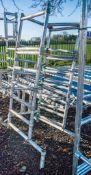 Aluminium podium