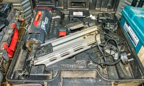 Max cordless nail gun c/w 2 batteries, charger & carry case