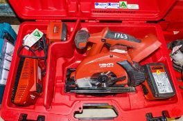 Hilti SCM22A 22v cordless circular saw c/w 2 - batteries, charger & carry case A686960