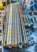 Beam runway system Comprising of: 23 - 10 ft beam sections, 4 - single runners & 4 - double