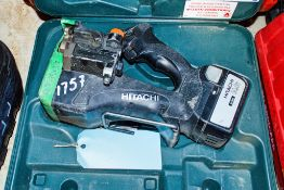 Hitachi 14.4v cordless rebar cutter c/w battery & carry case ** No charger **