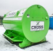 Cross Plant 4500 litre static bunded fuel bowser c/w petrol driven fuel pump, delivery hose & nozzle