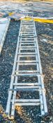 2 stage aluminium roofing ladder